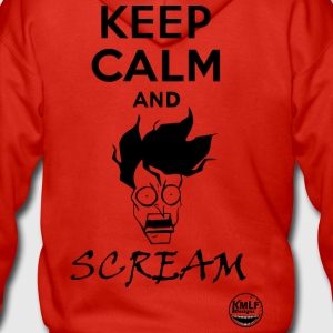 Keep calm and scream - Men's Premium Hooded Jacket