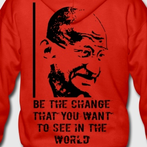 Mahatma Gandhi - Men's Premium Hooded Jacket