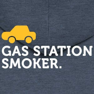 Macho Quotes: I Smoke At Petrol Stations! - Men's Premium Hooded Jacket