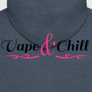 Vape and Chill - Felpa con zip Premium da uomo