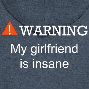 WARNING GIRLFRIEND - Men's Premium Hooded Jacket