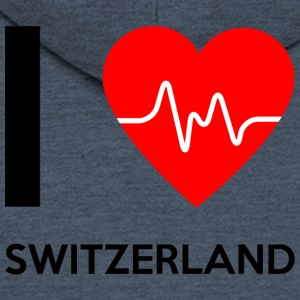 I Love Switzerland - I Love Switzerland - Men's Premium Hooded Jacket