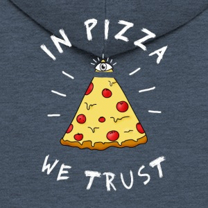 Pizza fastfood love eye pyramid Illuminati LOL - Men's Premium Hooded Jacket