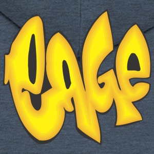 cage graffiti - Men's Premium Hooded Jacket