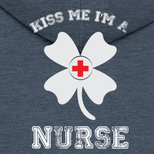 Kiss me - Nurse - Men's Premium Hooded Jacket