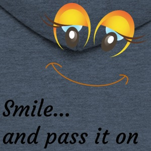 smile and pass it on - Men's Premium Hooded Jacket