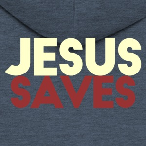 Jesus Saves - Premium Hettejakke for menn