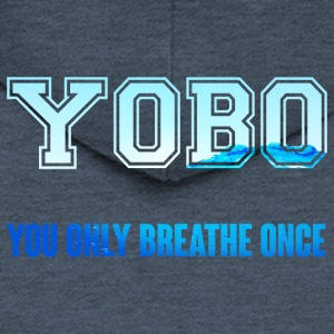 Swimming / Swimmer: YOBO - You Only Breathe Once - Men's Premium Hooded Jacket