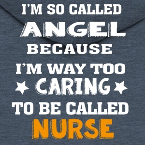 Angel Caring Nurse - Men's Premium Hooded Jacket