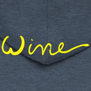 Wine art logo YELLOW - Men's Premium Hooded Jacket
