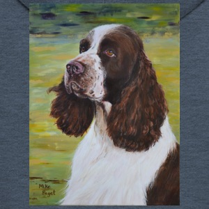 English Springer Spaniel - Felpa con zip Premium da uomo