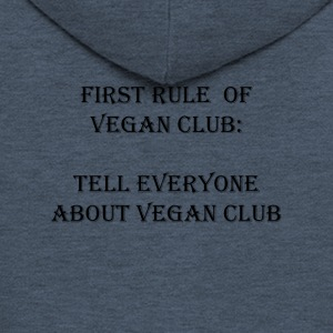 vegan Club - Premium Hettejakke for menn
