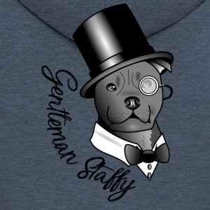gentleman Staffy - Premium Hettejakke for menn