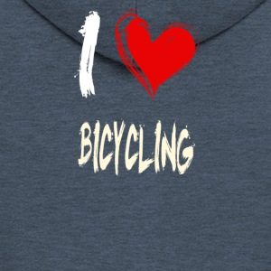 I love cycling - Men's Premium Hooded Jacket