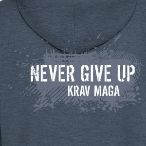 never give up - Felpa con zip Premium da uomo