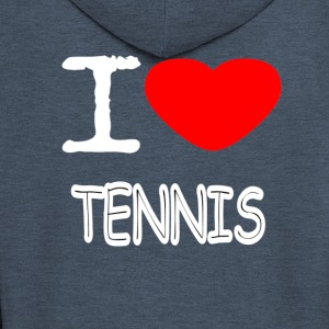 I LOVE TENNIS - Men's Premium Hooded Jacket