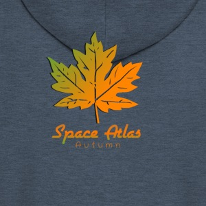 Space Atlas Long Sleeve T-shirt Autumn - Men's Premium Hooded Jacket
