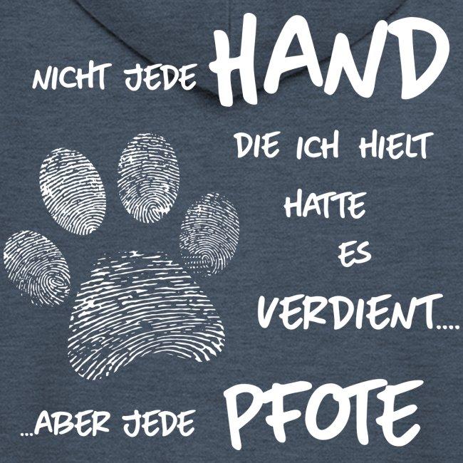 Vorschau: Hand Pfote Hund - Männer Premium Kapuzenjacke