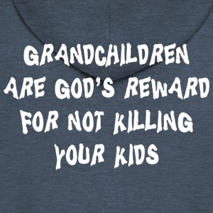 Grandchildren God's Reward - Men's Premium Hooded Jacket