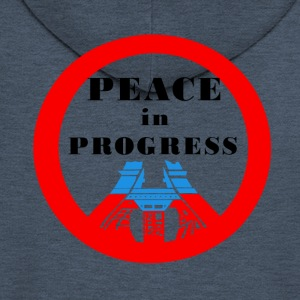 Peace in Progress - Rozpinana bluza męska z kapturem Premium