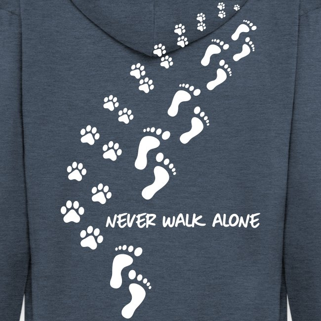 never walk alone dog - Männer Premium Kapuzenjacke