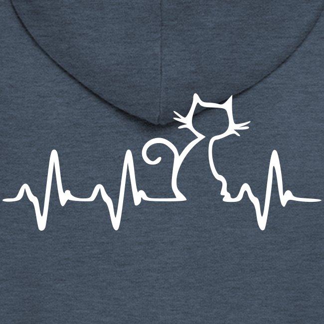 Vorschau: Cat Heartbeat - Männer Premium Kapuzenjacke