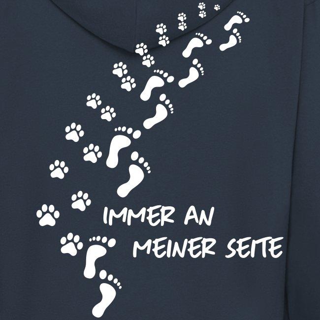 Vorschau: Immer an meiner Seite - Mein Hund und Ich - Männer Premium Kapuzenjacke