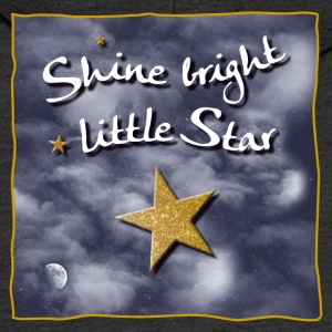Shine bright / bright light small star - Men's Premium Hooded Jacket