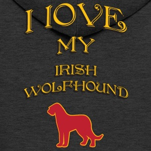 I LOVE MY DOG Irish Wolfhound - Men's Premium Hooded Jacket