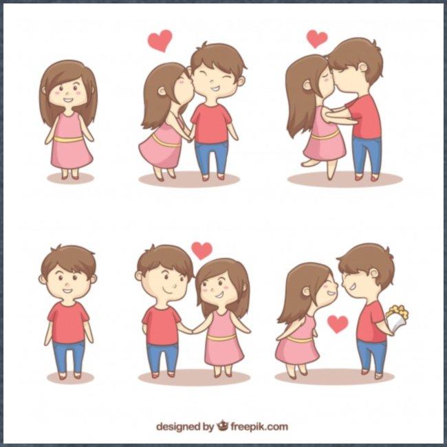 Cute couple valentines