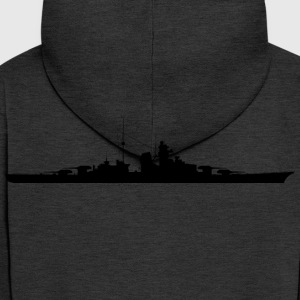 Bismarck battleship silhouette - Men's Premium Hooded Jacket