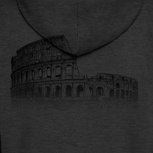 Around The World: Colosseum - Rom - Männer Premium Kapuzenjacke