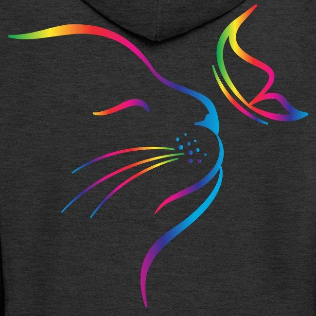 Vorschau: rainbow butterfly cat - Männer Premium Kapuzenjacke
