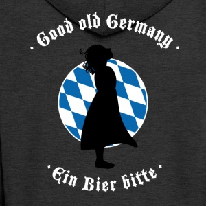 beer bayern oktoberfest germany flag girl blauwei - Men's Premium Hooded Jacket
