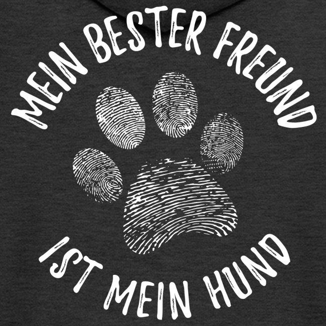 Vorschau: Mein Hund Bester Feund - Männer Premium Kapuzenjacke