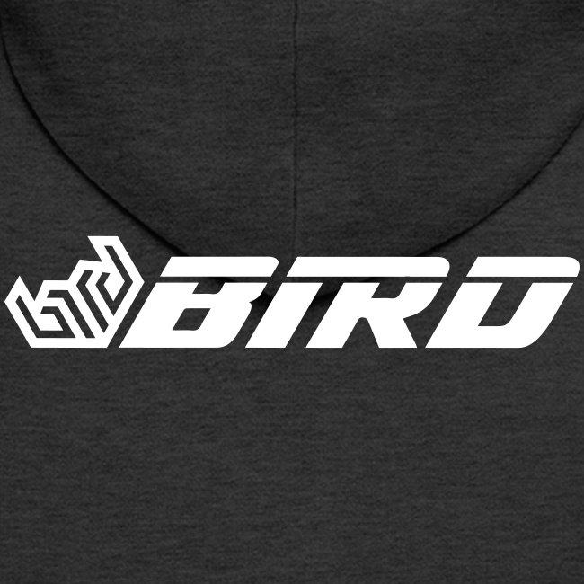 Bird logo and text