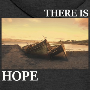 There_is_hope_picture_white_letters - Rozpinana bluza męska z kapturem Premium