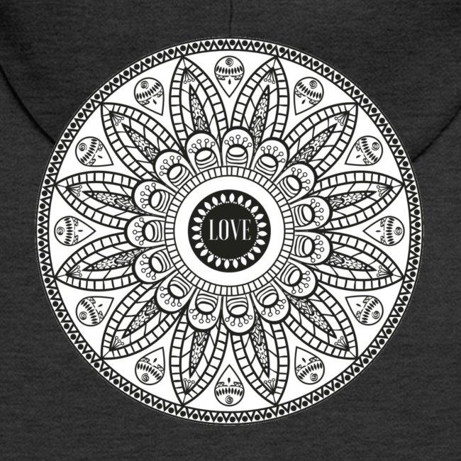 Mandala mit Schriftzug Love