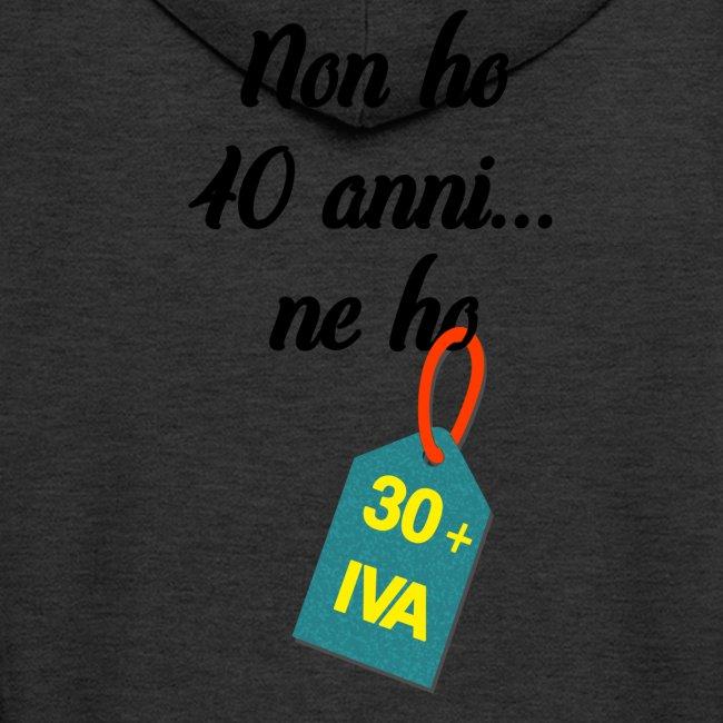 40 ANNI donna   Felpa con zip Premium da uomo