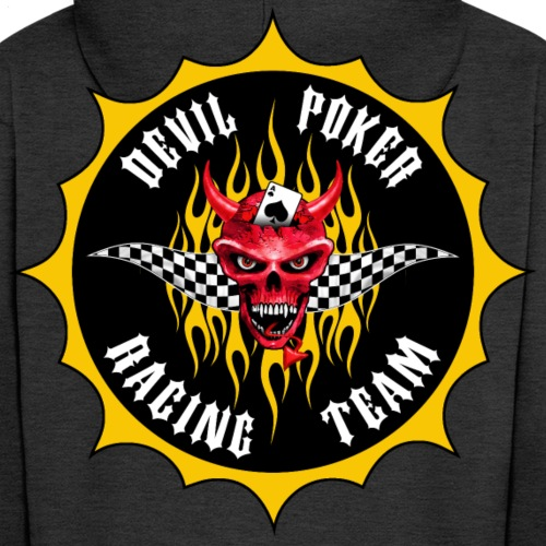 devil poker racing team 02 - Men's Premium Hooded Jacket