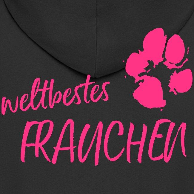 Vorschau: weltbestes Frauchen Pfote Hund - Männer Premium Kapuzenjacke