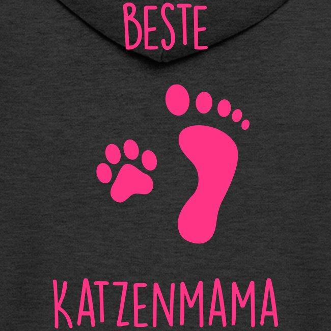 Vorschau: Beste Katzenmama - Männer Premium Kapuzenjacke