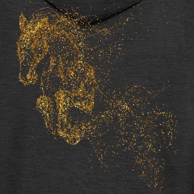 Vorschau: jumping horse gold - Männer Premium Kapuzenjacke