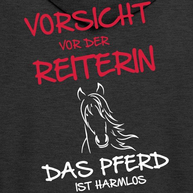 Vorschau: Vorsicht vor der Reiterin - Männer Premium Kapuzenjacke
