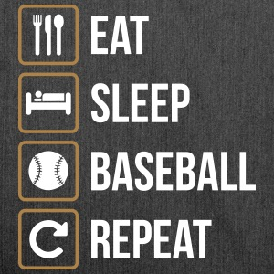 Eat Sleep Baseball Softball Repeat - Borsa in materiale riciclato