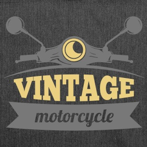 Vintage Motorcycle - Schultertasche aus Recycling-Material