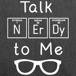 Talk nerdy to me - Schultertasche aus Recycling-Material
