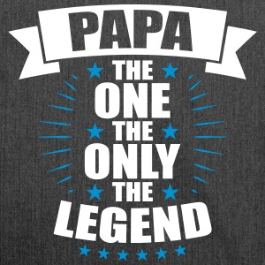 Papa The One The Only The Legend fathers day - Shoulder Bag made from recycled material