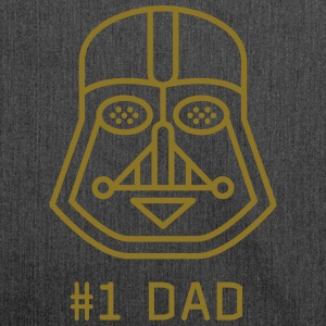 Dad father best fun maske Darth vader star was a fan - Shoulder Bag made from recycled material