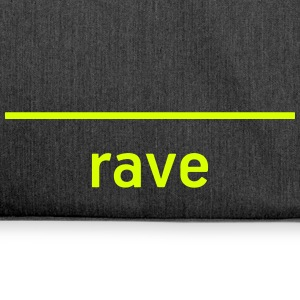 RAVE - Live the Techno! - Shoulder Bag made from recycled material